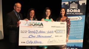 BOMA presents $1,000 scholarship to the University of Alabama-Huntsville